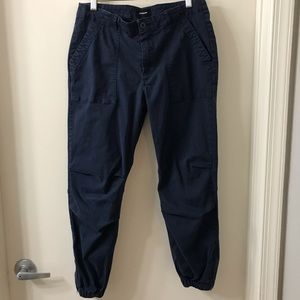 Monrow Navy Utility Style Pants Joggers Size 28